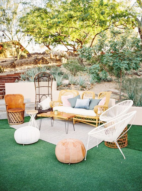 Modern Backyard Ideas: Warm Boho Vibe