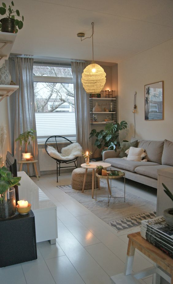 Small Living Room Ideas: Minimalist Neutral Look