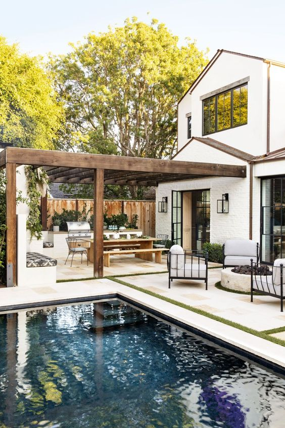 Swimming Pool Inspiration Ideas: Cozy Outdoor View