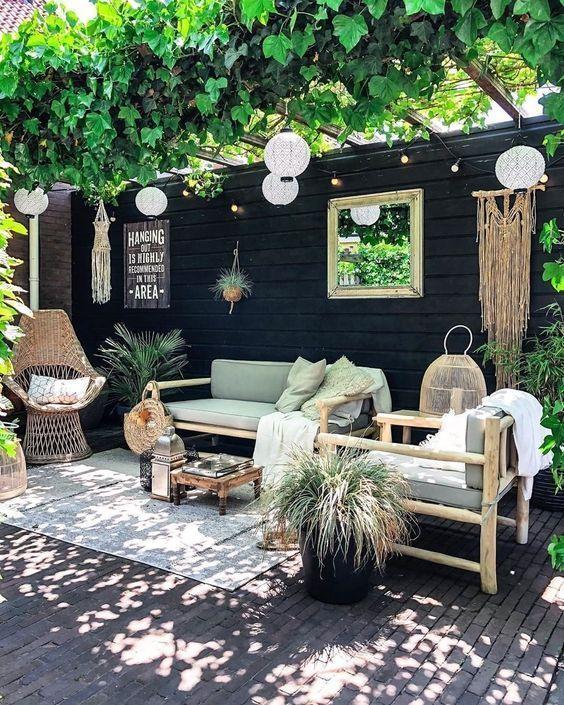 Backyard Inspiration Ideas: Striking Bold Boho