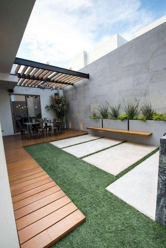 Backyard Inspiration Ideas: Minimalist Garden