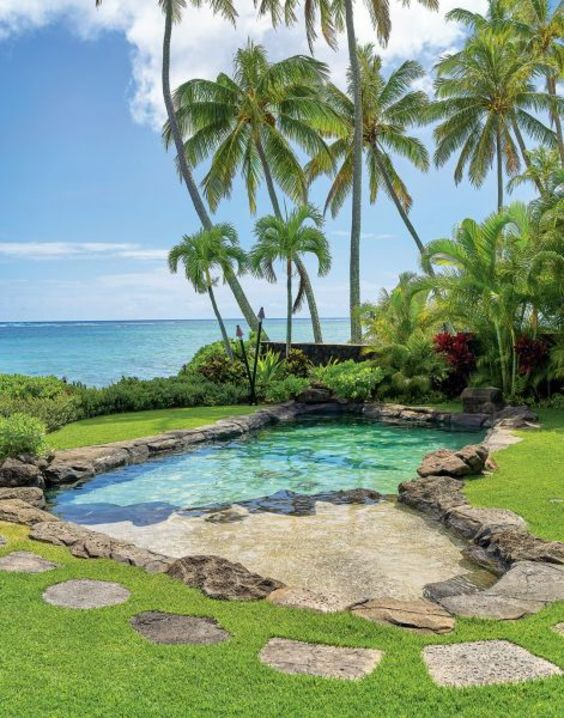 Beach Entry Swimming Pool: Fresh Tropical Nuance