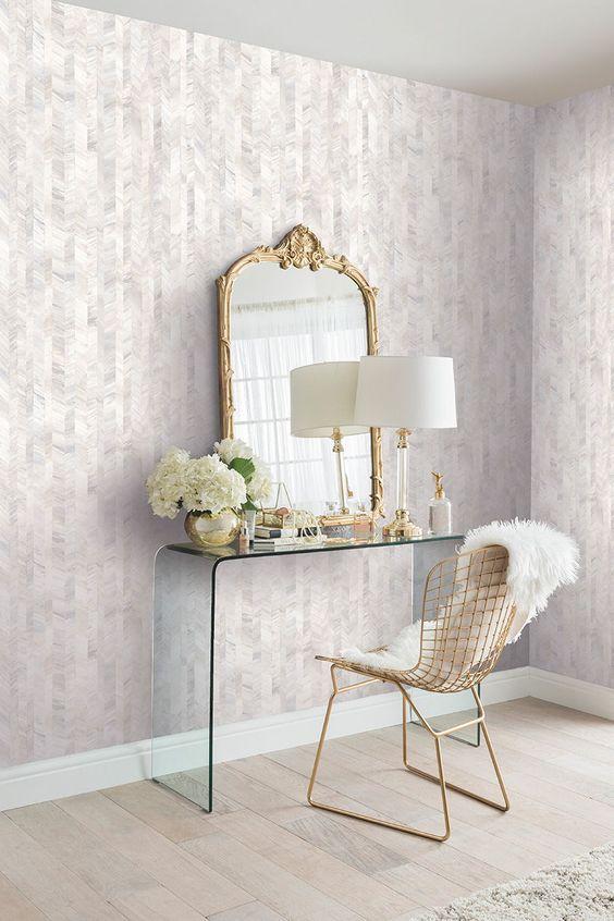 Bedroom Wallpaper Ideas: Stylish Simple Pattern