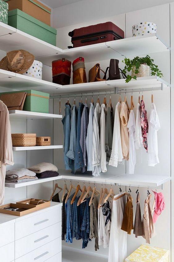 Bedroom Wardrobe Ideas: Space-Saving Open Style