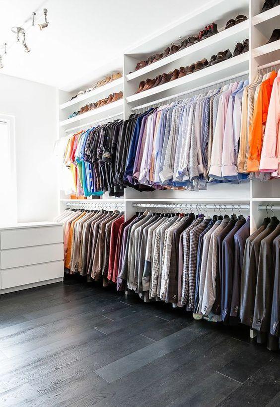 Bedroom Wardrobe Ideas: Minimalist Open Wardrobe