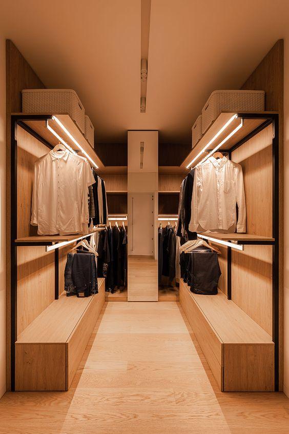 Bedroom Wardrobe Ideas: Dreamy Warm Wardrobe