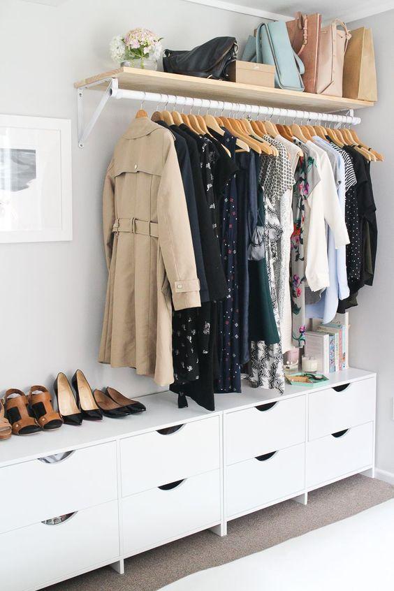 Bedroom Wardrobe Ideas: Stylish Open Style