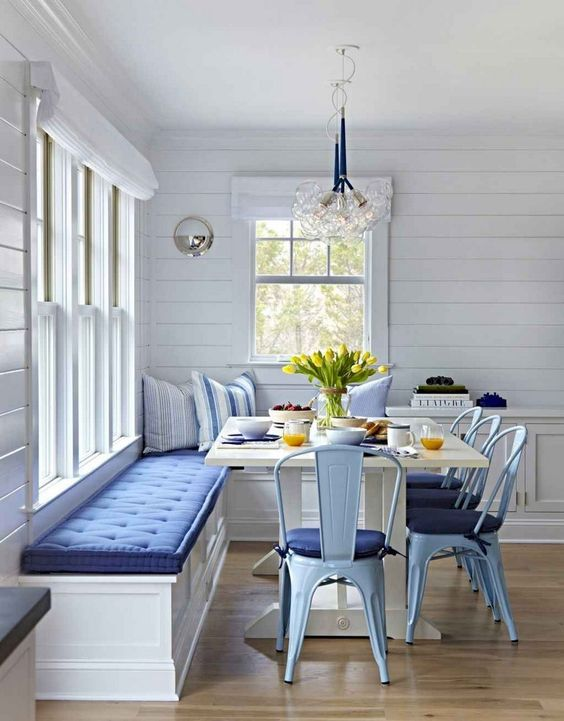 Dining Room Bench Ideas: Fresh Coastal Nook
