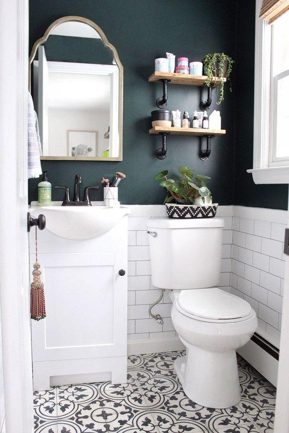 Guest Bathroom Ideas: Chic Rustic Farmhouse