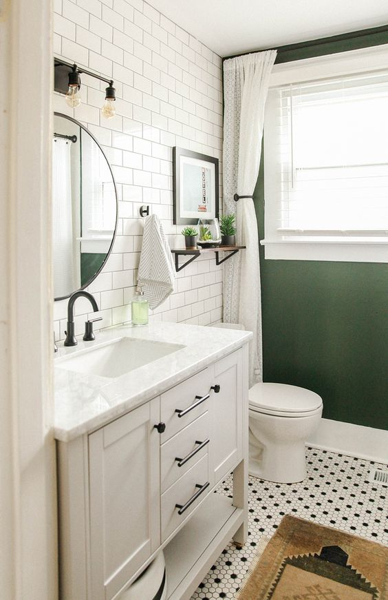 Guest Bathroom Ideas: Stylish Modern Vintage