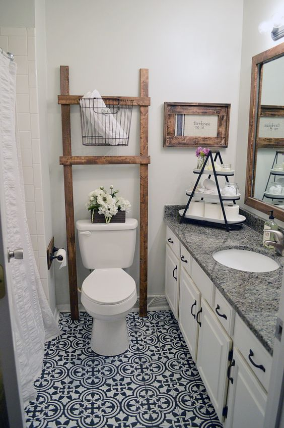 Guest Bathroom Ideas: Minimalist Rustic Farmhouse