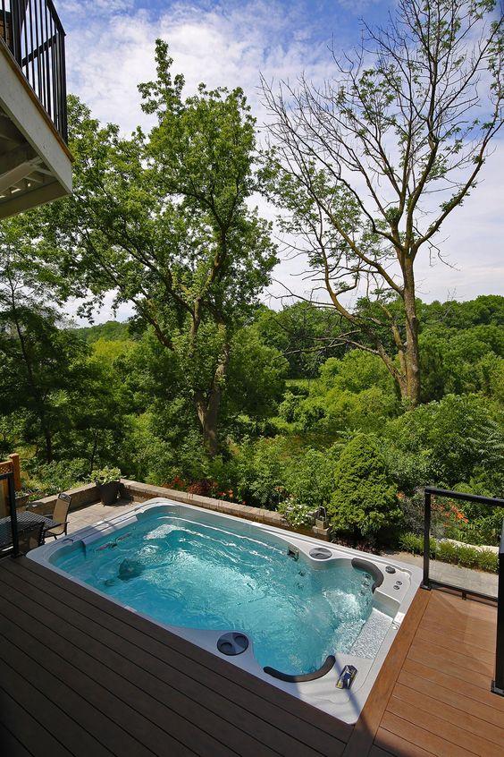 Modern Hot Tub Ideas: Fresh Outdoor Tub