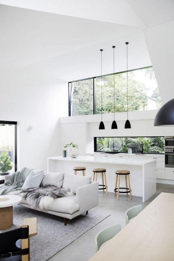 Open Kitchen Ideas: Airy Spacious Area