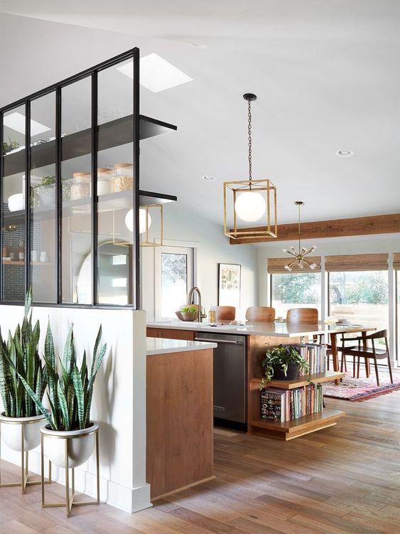 Open Kitchen Ideas: Earthy Farmhouse Look