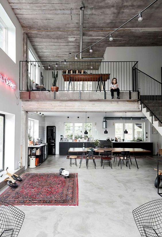 Open Kitchen Ideas: Bold Industrial Style