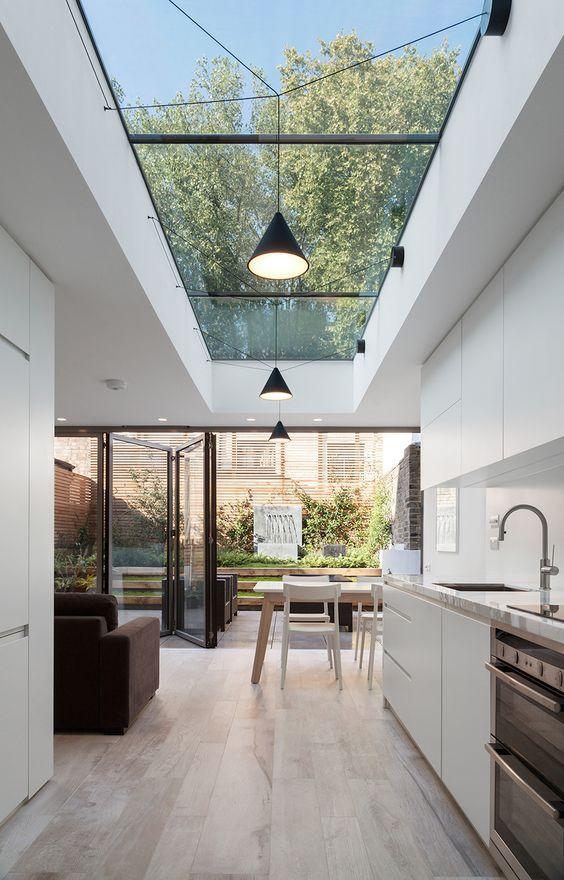 Open Kitchen Ideas: Elegant Galley Kitchen