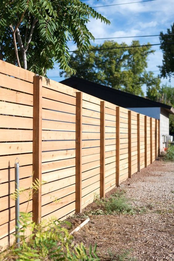 Outdoor Fence Ideas: Simple Horizontal Fence
