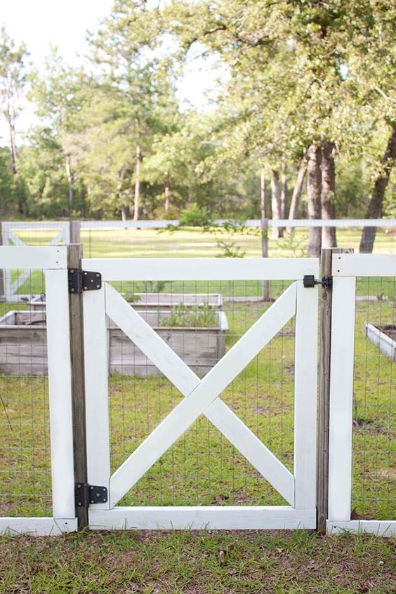 Outdoor Fence Ideas: Chain-Linked Fence Gate