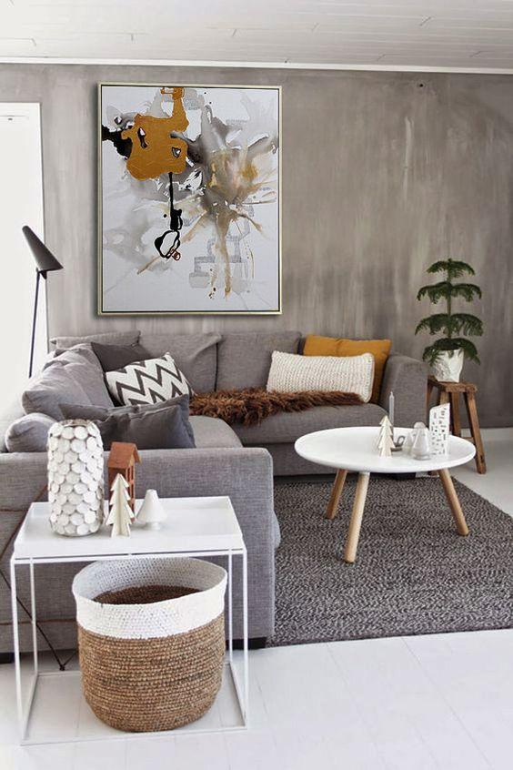 Simple Living Room Ideas: Elegant Earthy Color