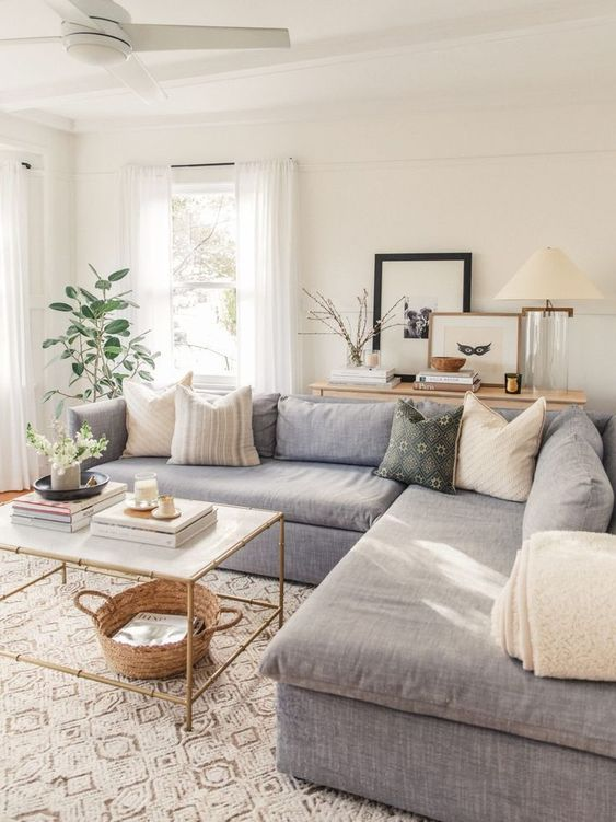 Simple Living Room Ideas: Minimalist Neutral Shades
