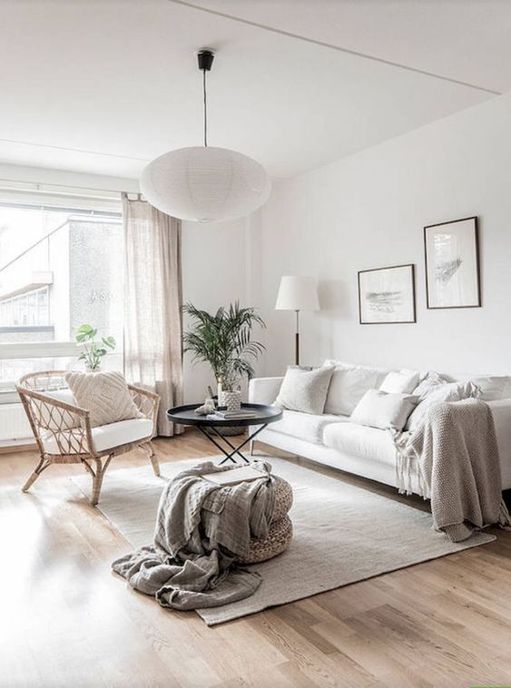Simple Living Room Ideas: Bright White Room