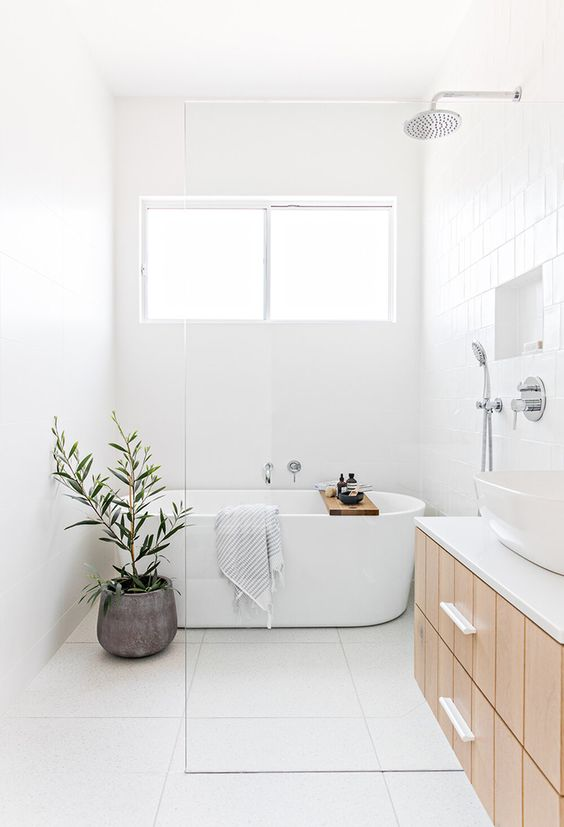 White Bathroom Ideas: Sleek Scandinavian Look