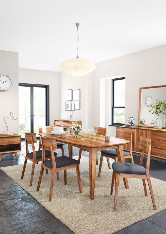 Wood Dining Room Ideas: Sleek Mid-Century Look