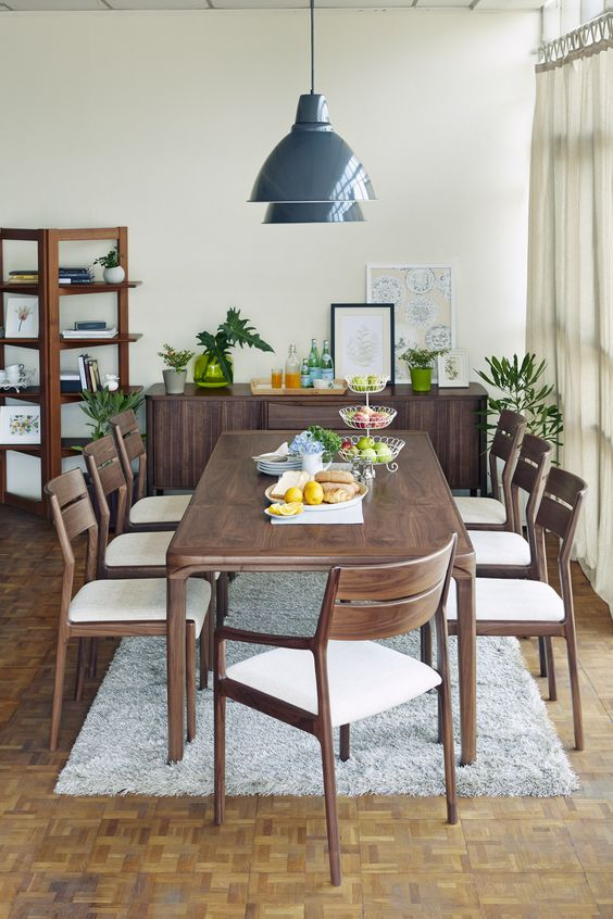 Wood Dining Room Ideas: Lovely Dark Wood
