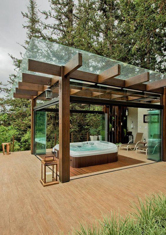Hot Tub Pergola: Stylish Modern Decor