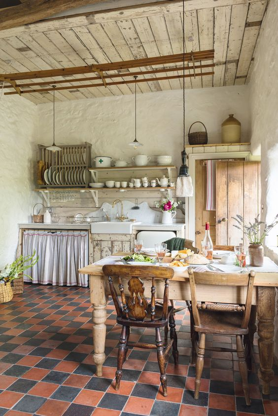 Rustic Kitchen Ideas: Chic Rustic Cottage