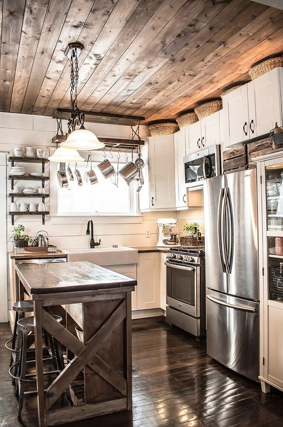 Rustic Kitchen Ideas: Sleek Modern Combination