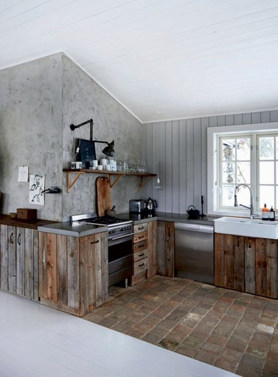 Rustic Kitchen Ideas: Cool Industrial Ambiance