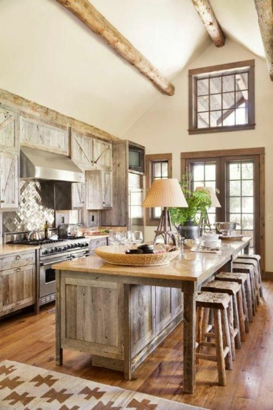 Rustic Kitchen Ideas: Elegant Rustic Accents