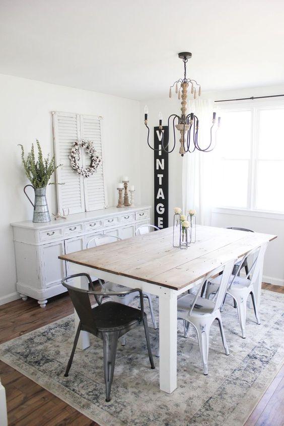 Simple Dining Room Ideas: Minimalist Farmhouse
