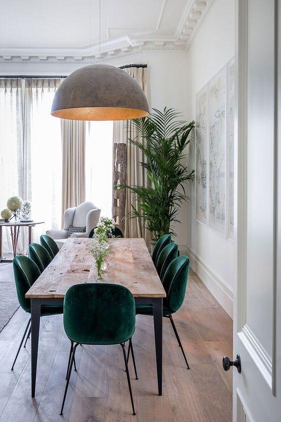 Simple Dining Room Ideas: Elegant Suede Textures
