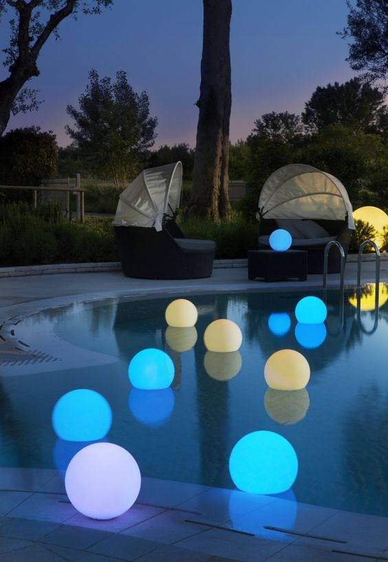 Swimming Pool Lighting Ideas: Decorative LED Lights