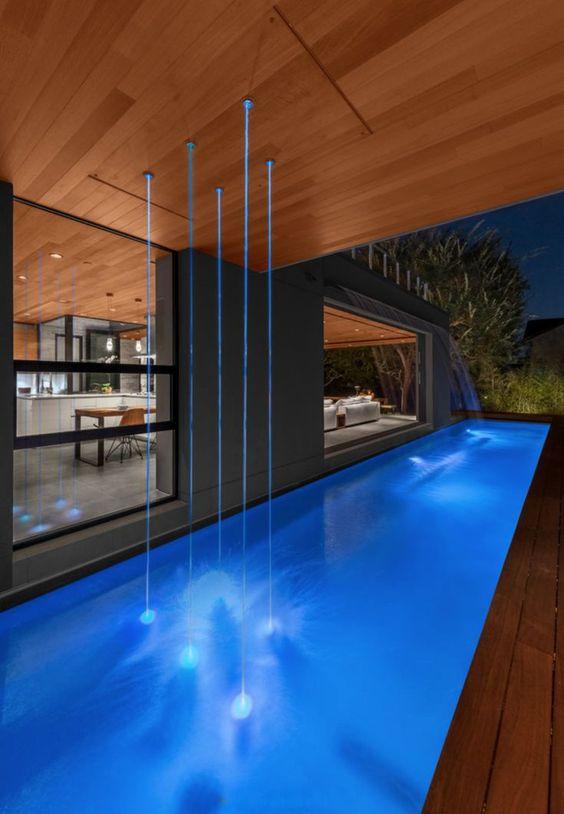 Swimming Pool Lighting Ideas: Stylish LED Lasers