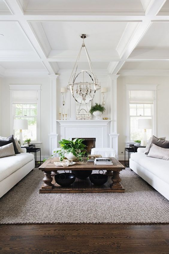 Formal Living Room Ideas: Elegant Farmhouse Accent