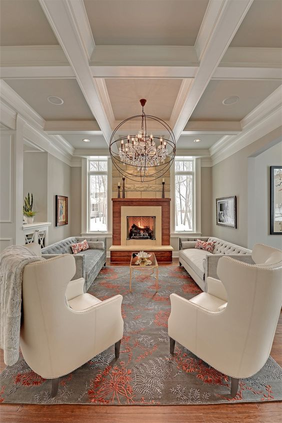 Formal Living Room Ideas: Striking Pastel Accent