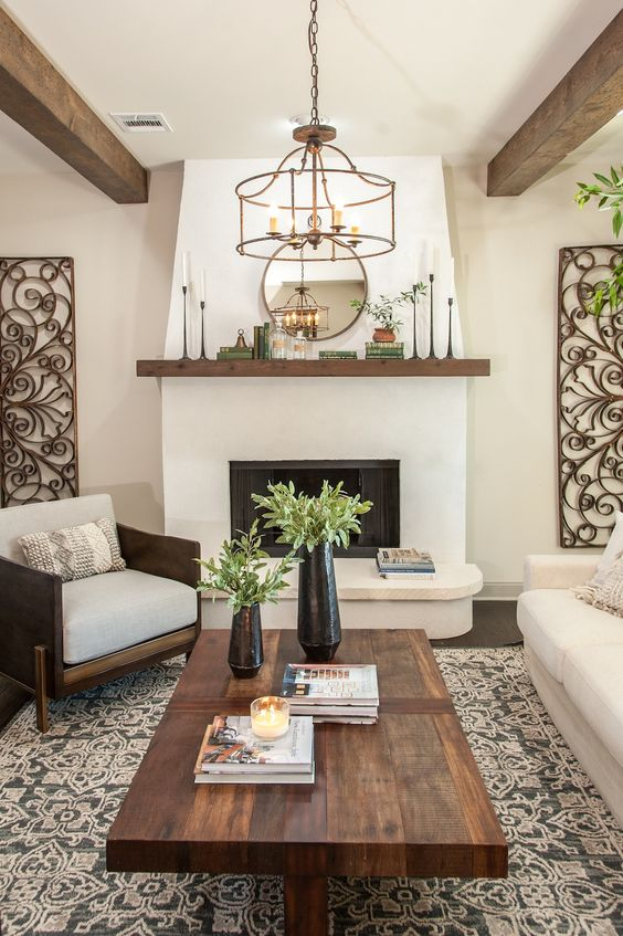 Formal Living Room Ideas: Warm Earthy Concept