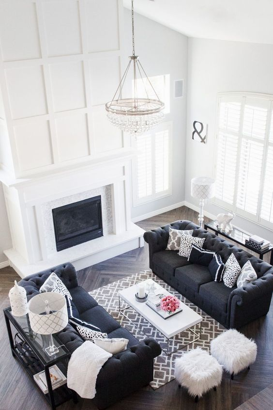 Formal Living Room Ideas: Classic Black and White