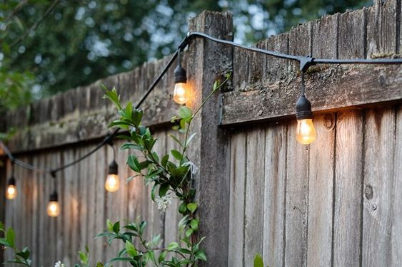 How To Hang String Lights In Backyard Without Trees 5